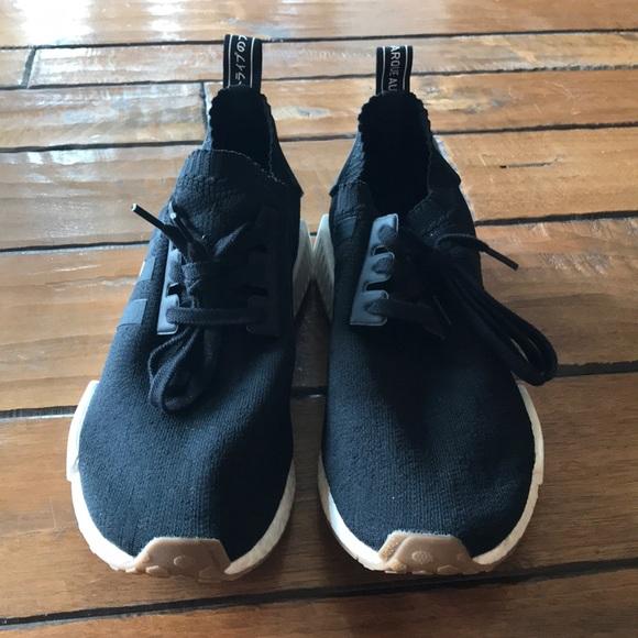 Adidas Shoes Addidas Pk Nmd Black Gum Bottom Poshmark